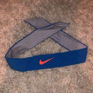 Blue & Orange Nike Tie Headband